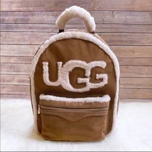 UGG Dannie Sheepskin Backpack In Chestnut